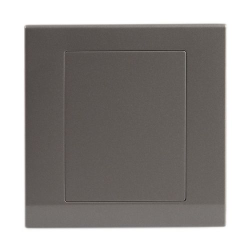 Simplicity Grey Screwless 1 Gang Blank Plate 07842